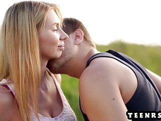 Gorgeous Teen With Perfect Boobs Fucks Girlfriend Outdoors