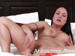 Anal loving mom dildo fucks her ass...