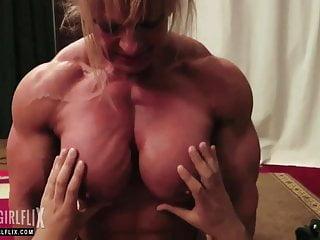 Naked Female Bodybuilder Mixed Wrestling Domination