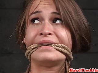 Tied up bdsm sub whipped through maledom