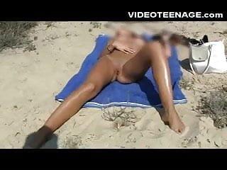 Lovely teen nude at beach...