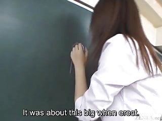 副標題為日語的渡瀨彰教室課堂口交講座