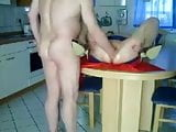 Tisting in kitchen