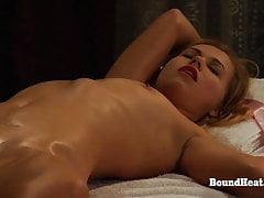 Mistress Enjoys In Sensual Orgasmic Massage By Lesbian Slave