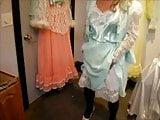 Dress-up to cum in satin panties