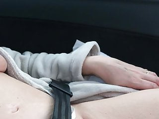 Naked in car 2