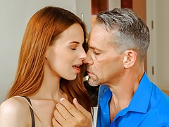 DADDY4K. Naive gal cheats on future husband with his stepdad
