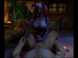 a Draenei futa Human Warcraft Male fucking