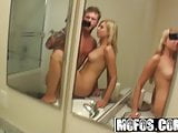 Molly Bennett gets pounded by her bf in the bathroom - MOFOS