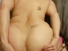 Sexy wife in pigtails sucking bbc