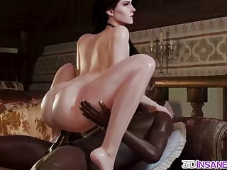 Perfect BBC brunette by huge 3D rammed