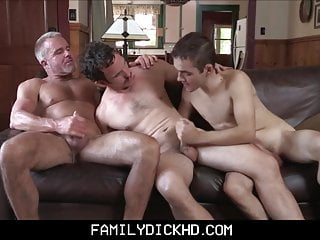 Little Twink Stepson Threesome With Grandpa And Stepdad
