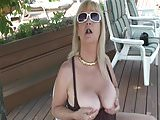 Bit Tit Blonde Granny Outdoors