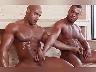 Big muscular having sex in the sauna...