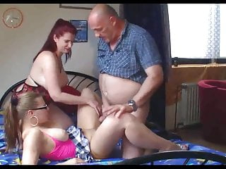 Mature couple with a gril...