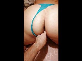 Blue thong ass twerking...