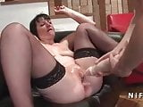 French mature hard anal nailed and double fist fucked