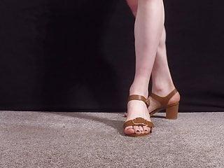 Cute tan sexy smooth legs teasing...