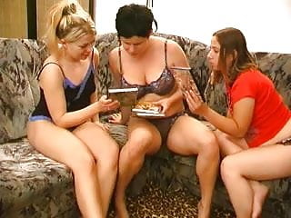 Three Lesbians Licking Each Other