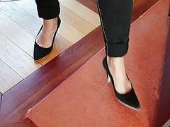 Candid feet mature secretary