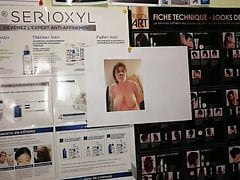 PIGMely Pics Exposed in a hairdresser