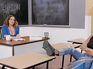Phat ass lesbian teacher fucks the bully under...