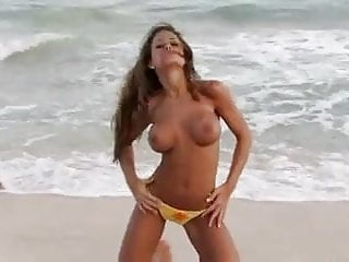 Brooke Tessmacher (Adams) Naked on the Beach
