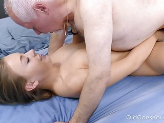 Old Goes Young Sweetie Thanks A Caring Mature Man