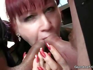 Office mature bitch riding cock after...