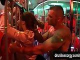 Bi club babes having public sex orgy