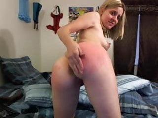 Cam spanking session...
