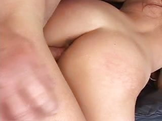 Shaved Asian loves to wrack her pussy by his boyfriend big pounding cock in sofa