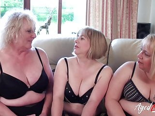 Three Ladies Cock One AgedLovE Mature Occupying