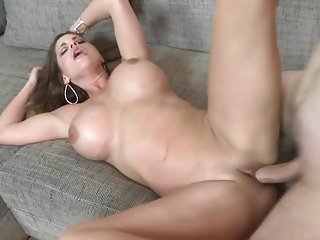 Busty mom cathy gets anal creampie after...