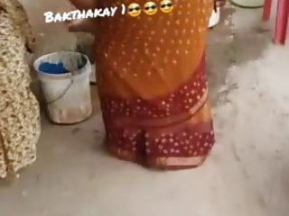 saree ass silk aunty Desi Captured