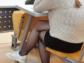Sexy Turkish teen student dangling in sheer pantyhose part 2