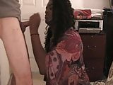 Black tranny makes guy cum quick!