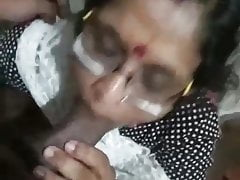 Indian Granny Blowing Dick