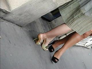 Candid excessive heels #17