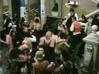 Vintage Italian movie scene