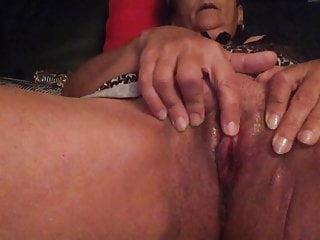 French Old Nadine masturbation