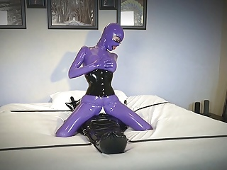 Horny abuse of saved Rubber Toy