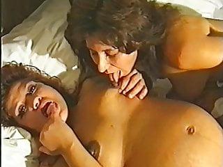 Licking colostrum...
