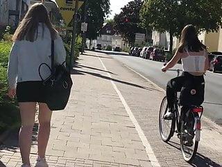 German Teen Maedchen Mini u high waist und fila