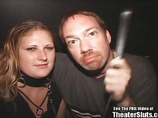 Blonde Freak Sperm Leash On Spray Theater Gangbang
