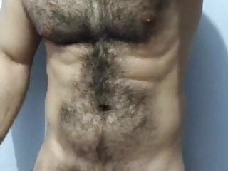Hairy guy shows his beast