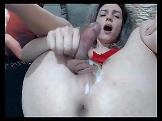 Big ass shemal cum...