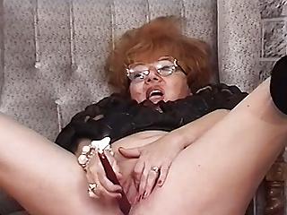redhead bbw granny has rough sex