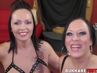 Tiffany and Samantha babes Morriss blowbanged Busty