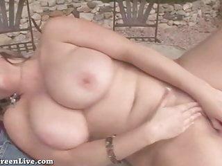 Busty Blonde Maggie Green Masturbates Outside!